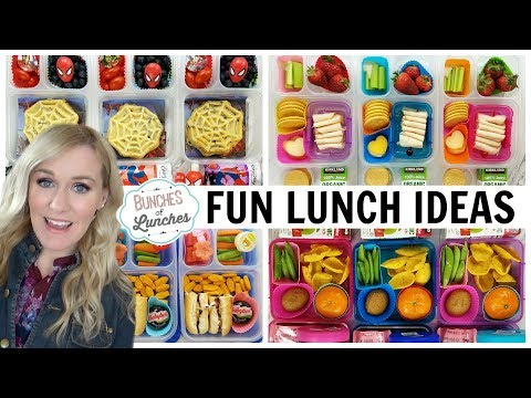 NEW SCHOOL LUNCH IDEAS + What They Ate   JK, K, 1st Grade, 2nd Grade   Bunches Of Lunches