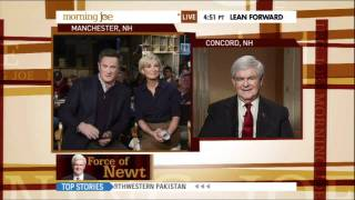 Morning Joe Scarborough Faces Off With Newt Gingrich And Wusses Out