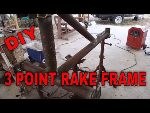 PART 1 DIY 3 POINT TRACTOR LANDSCAPE  RAKE, SCRAP METAL AND NEW TINES