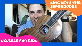 Singing With The Superdudes | Old MacDonald Had A Farm | Ukulele with Chris White