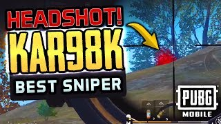 TOP SNIPER WITH MEAN KAR98K SHOTS - PUBG Mobile SQUADS