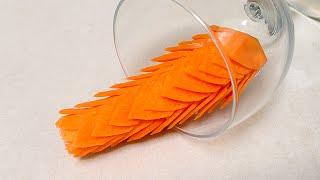 Lion Rice Flower From Carrot - Intermediate Lesson 28 By Mutita Art Of Fruit & Vegetable Carving