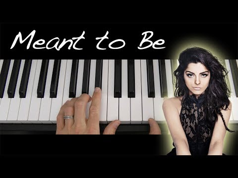 Bebe Rexha Meant to Be Piano Tutorial