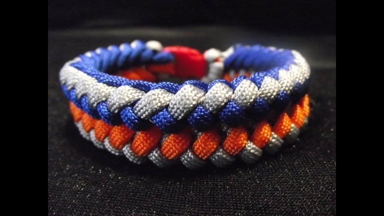 Super Paracord, bracelet Weavy loops anaconda (tuto en francais) - YouTube UP33