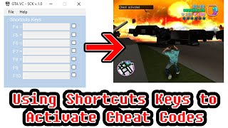 Activate Cheat Code with Shortcuts Keys in GTA Vice City on PC