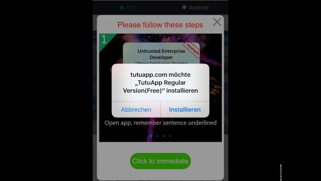 tutuapp download derzeit nicht möglich