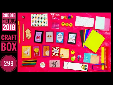 Super cute craft box at just 299| Coddle Box July | Unboxing and Review