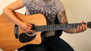 How to play Dear Maria Count Me In by All Time Low on Guitar live acoustic version - Jen Trani