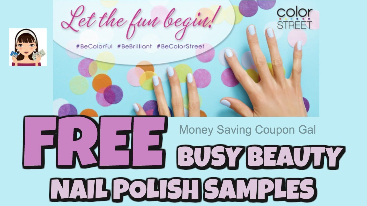 FREE BUSY BEAUTY NAIL POLISH SAMPLES - YouTube