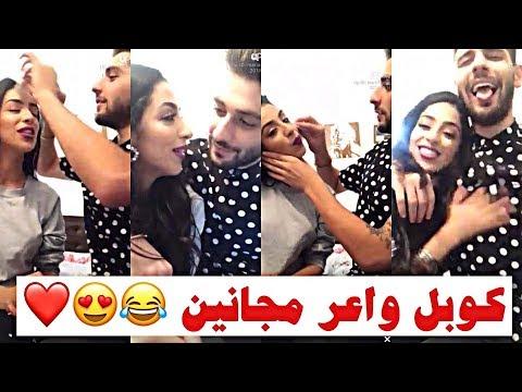 لايف ماريا نديم وزوجها كاظم شمس: يمسح لها المكياج بطريقته الخاصة,غناءهم 'مول الشاطو'و'غزالي'