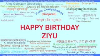 Ziyu   Languages Idiomas - Happy Birthday