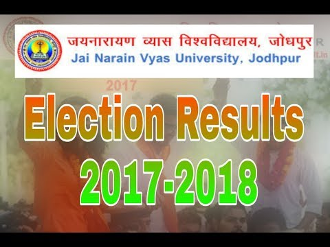 J.N.V.U College  Election Results 2017-2018 Jodhpur Rajasthan .