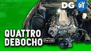 ENGINE IS IN! Quad Turbo LS Audi Quattro Ready For LS Fest