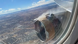 EMERGENCY United Airlines B777 Engine desintegrate !!