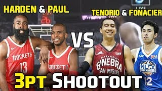 James Harden and Chris Paul vs LA Tenorio and Larry Fonacier in 3-Point Shootout