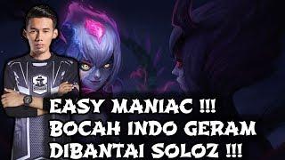 Soloz MANIAC ! Bocah Indo Auto Geram di bantai Soloz ! Soloz Gameplay Mobile Legends