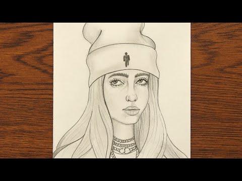 How To Draw Billie Eilish Easy | Billie Eilish Drawing