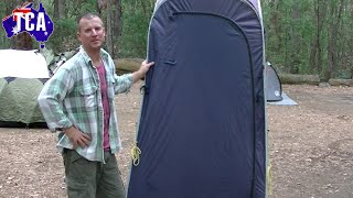 How to fold a pop up shower tent