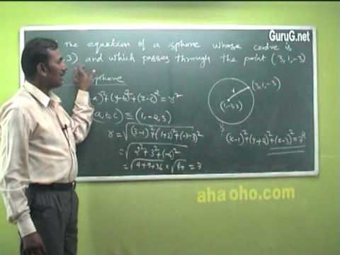 Unit-2 Three Dimensional Analytical Geometry (Equation of Sphere,Tangent Plane) - Mathematics