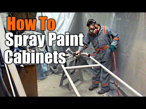 Spray Painting Custom Kitchen Cabinets | THE HANDYMAN |