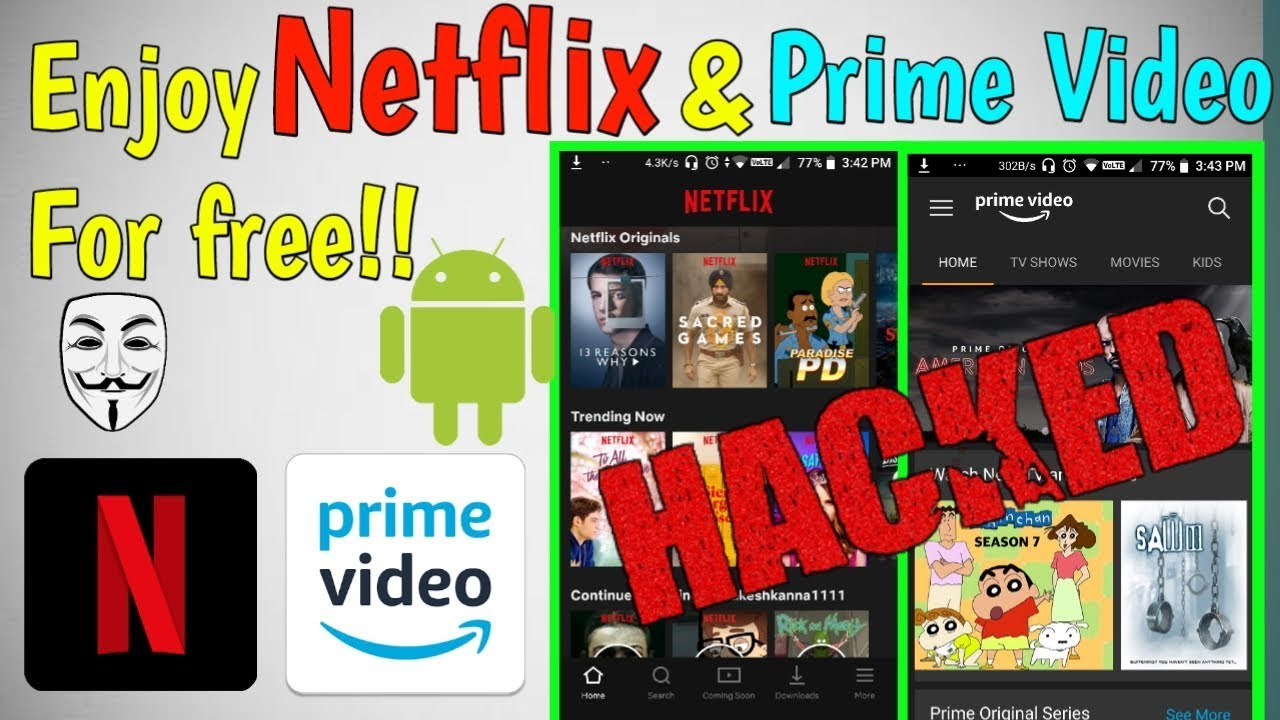 Hack Netflix & Amazon Prime Video by Android | Telegram channel for cookies