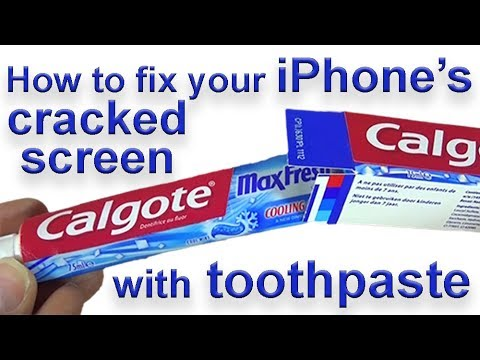 How to fix your iPhone's cracked screen with toothpaste