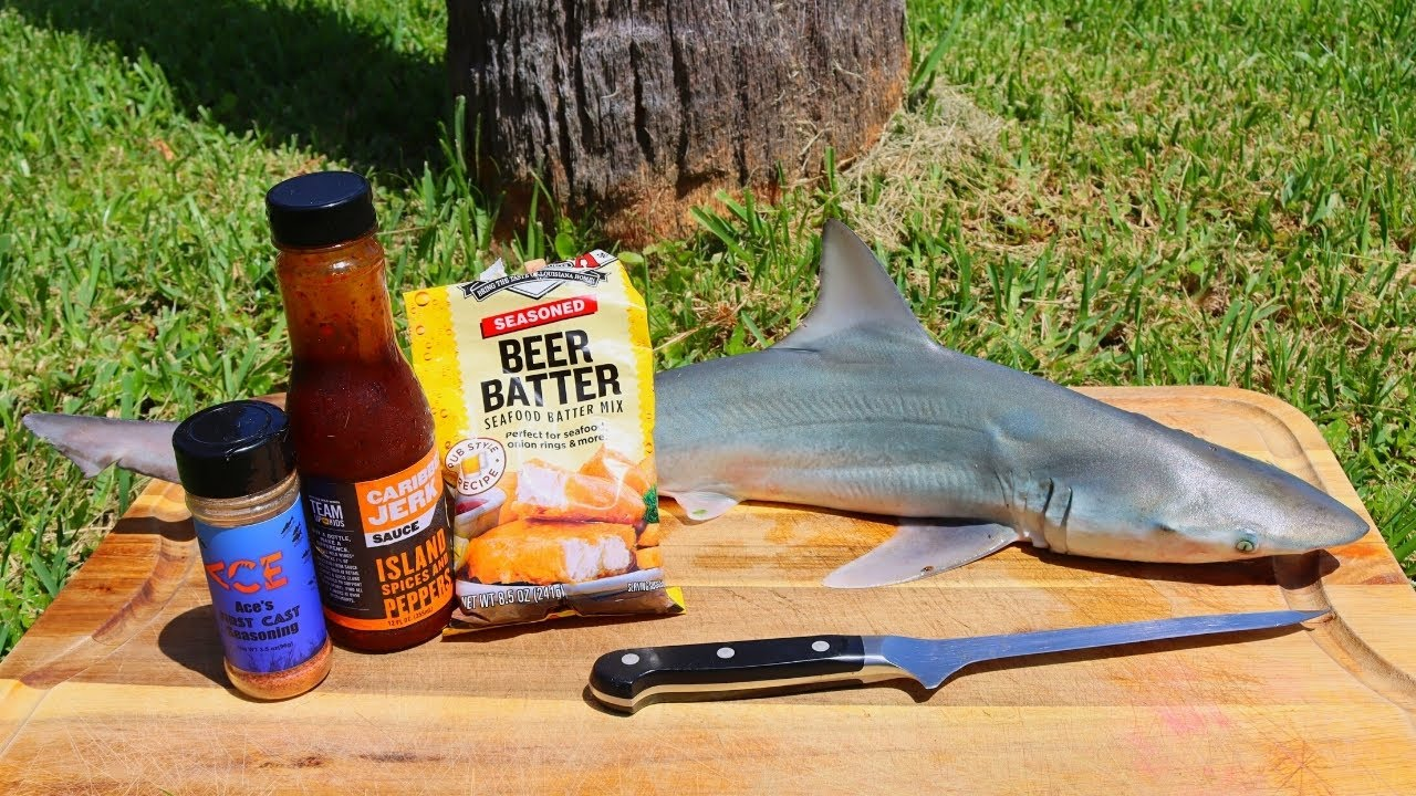 Shark Cookout - Making SHARK NUGGETS at the Beach!