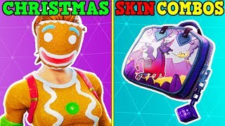 15 AMAZING CHRISTMAS SKIN + BACKBLING COMBOS IN FORTNITE! (You Must Use These!)