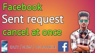 How to cancel all sent request at once on Facebook || cancel all sending request at once || hindi