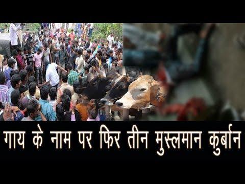 एक बार फिर गाय के नाम पर तीन मुसलमानों को मार दिया गया है