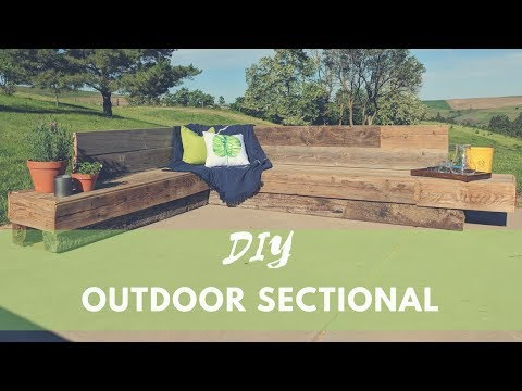 How To Build An Outdoor Sectional | DIY Patio Furniture