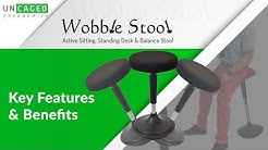 Wobble Stool, Ergonomic Standing Desk Stool - a fun bar chair & office stool for active sitting