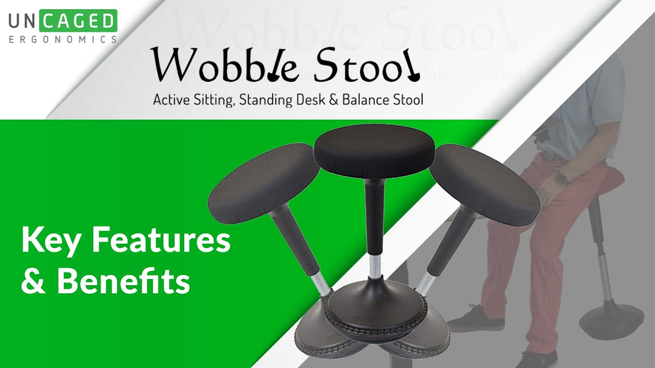 Wobble Stool Ergonomic Standing Desk Stool - a fun bar chair u0026 office stool for active sitting - YouTube  sc 1 st  YouTube & Wobble Stool Ergonomic Standing Desk Stool - a fun bar chair ... islam-shia.org