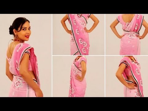 How to Wear Saree Perfectly Step by Step - Mermaid Style Of Sari Draping