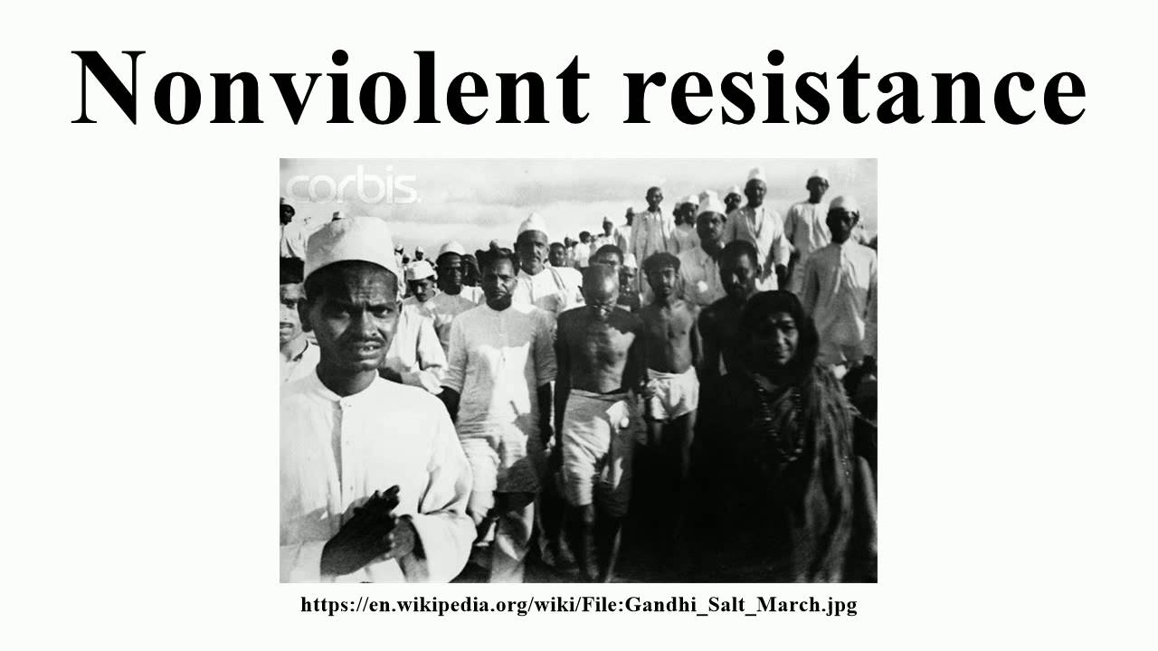 non violent resistance This is because their use of non-violent tactics is almost 100 percent more likely  to be successful than violent campaigns these are the.
