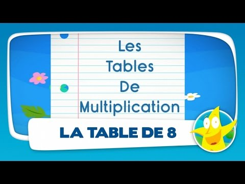 Comptines pour enfants la table de 8 apprendre les for La table de multiplication de 8