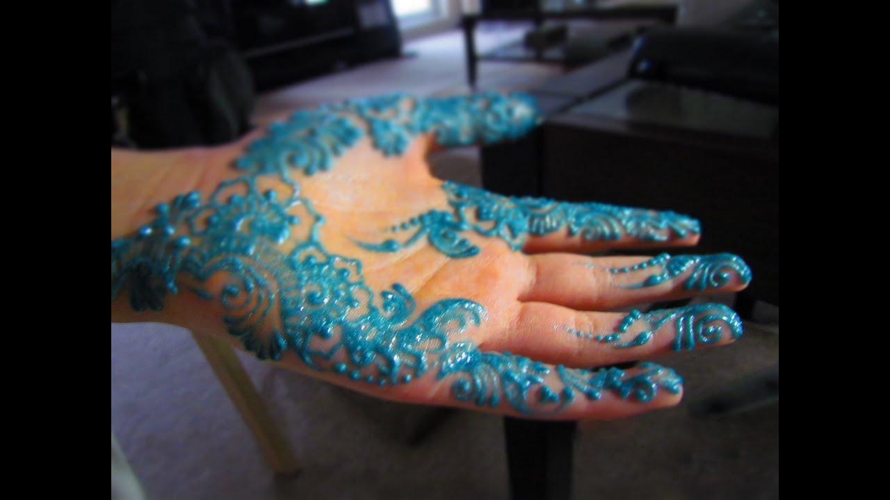 Blue Henna Tattoo