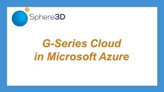 الشروع في العمل مع المجال 3D سلسلة G Cloud - كيفية إنشاء أزور VM