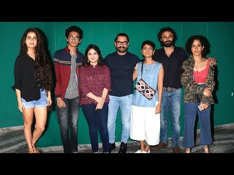 Secret Superstar Movie GRAND Success Party Full Video HD -Aamir, Zaira,Fatima,Sanya