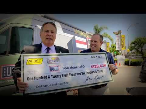 Operation Thank You Event: $128,630 Donation to Bob Hope USO!