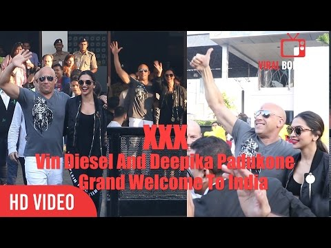 XXX Vin Diesel And Deepika Padukone Grand Welcome At Mumbai International Airport | XXX Promotions