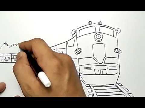Cara Menggambar Kereta Api Mudah Sekali How To Draw Train Easy