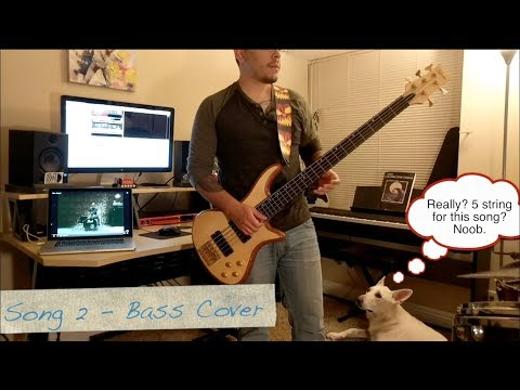 Blur - Song 2 (Bass Cover and Lesson Tabs)