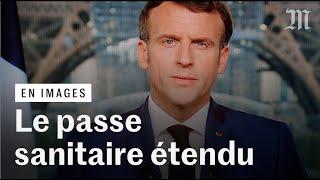 Covid-19 : Macron annonce le passe sanitaire élargi et le vaccin obligatoire pour les soignants