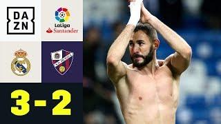 Karim Benzema schießt Real spät zum Sieg: Real Madrid - Huesca 3:2 | La Liga | DAZN Highlights
