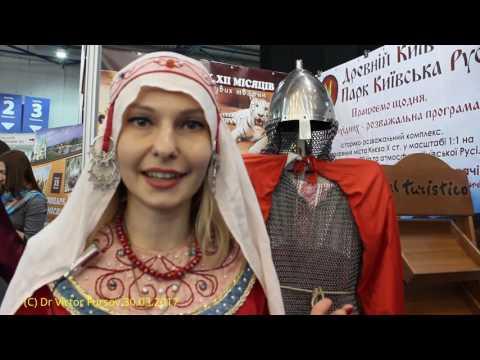 "Park ""Kievan Rus"" at Touristic Exhibition UITT-2017 ""Ukraine: Travels and Tourism"" , Kiev, Ukraine"