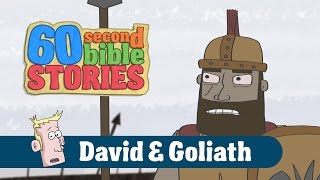 David and Goliath | 60 Second Bible Stories | Ep8