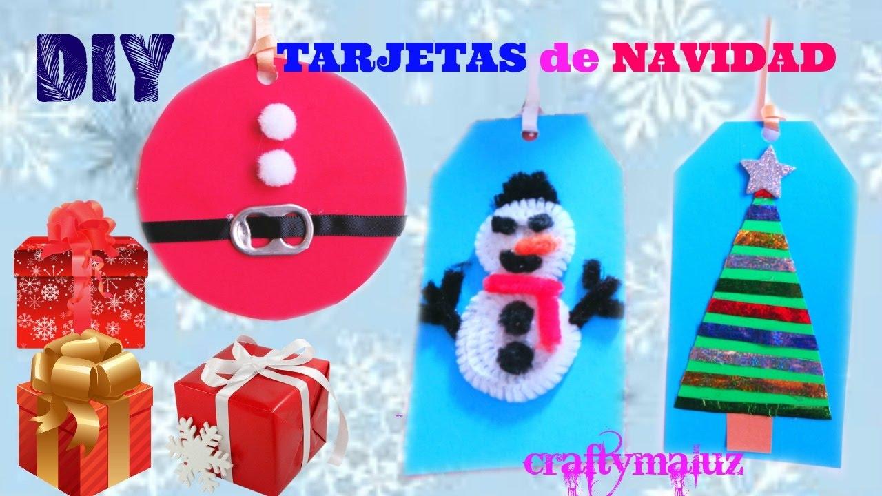 3 tarjetas de navidad caseras f ciles y bonitas - Tarjetas de navidad faciles ...