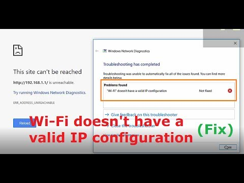 what does wifi doesnt have a valid ip configuration mean windows 10