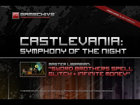 Castlevania: Symphony Of The Night (PS) Gamechive (Sword Brothers Spell & Infinite Money Glitch)